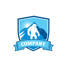 Mountain Yeti Logo , Monster L...