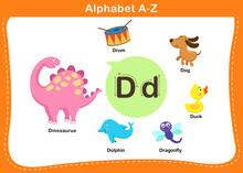 Alphabet Letter D Vector Illustration