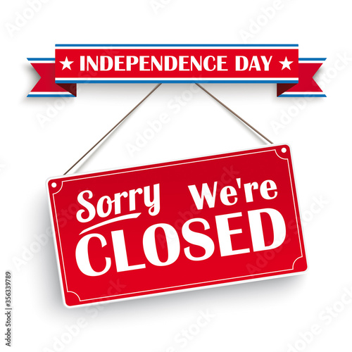 Closed On Independence Day Canvas-taulu