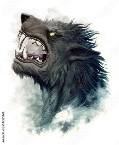 Fotografia Howling werewolf