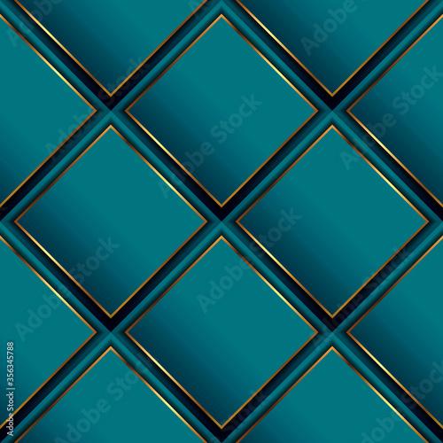 Fototapeta Waffle 3d vector seamless pattern