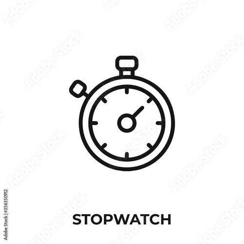 Photo stopwatch icon vector
