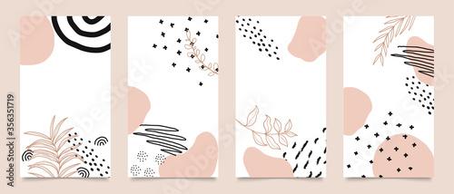 Social media stories and post creative vector set Canvas
