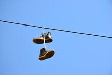 Flying Sneakers - Pair Of Old ...