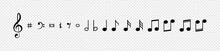 Note. Music Notes Vector Icons...