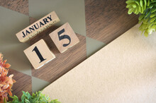 January 15, Number Cube Design In Natural Concept.