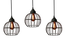 Set Of Modern Hanging Lamps On...