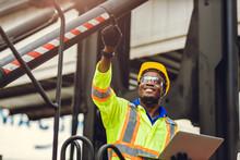 Black African American Worker ...