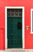 Old Traditional Door On Colorf...