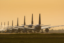 Grounded Airplanes Due To Covid-19 Pandemic