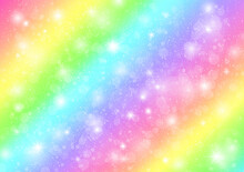 Rainbow Pastel Background With...