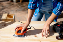 Women In Social Distancing Doing DIY At Home