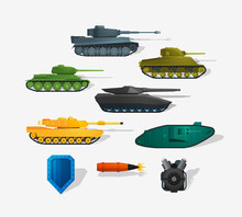 Battle Tanks Detailed Icons In...