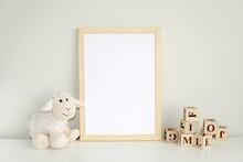 Wooden Frame Mock Up For Photo...