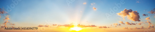 Fotomural Sunset sky clouds background