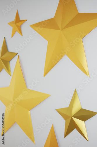 Fototapeta Origami stars handmade abstract background obraz na płótnie