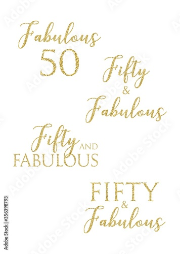 Fifty and Fabulous Canvas Print