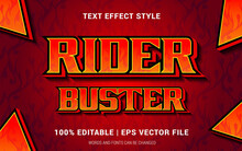 RIDER BUSTER TEXT EFFECTS STYLE