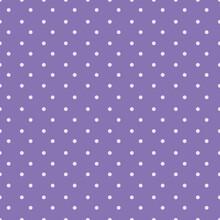 Mauve Dots On Purple Seamless Vector Pattern Background.