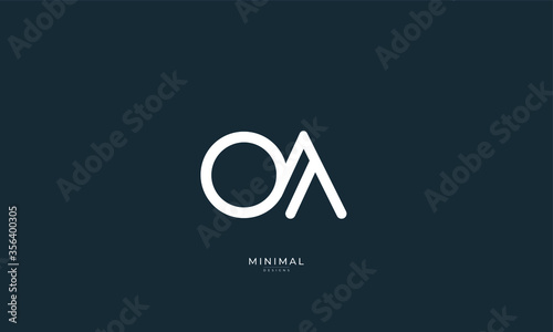 Obraz Alphabet letter icon logo OA - fototapety do salonu