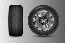 Car Wheel With Brake Gear. Tra...