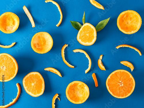 orange and orange peel