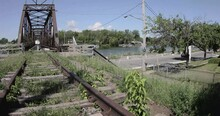 Abandoned Railway With A Bridg...