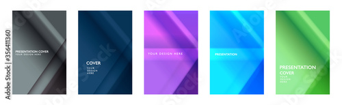 Fototapeta Abstract gradient. Arrow geometric, 3D background with light reflex and shine. Building top view effect. Identity cover design. Wallpaper for screen. obraz