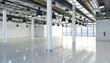 Leinwandbild Motiv leerstehendes Bürogebäude - Lagerhalle - Bürofläche - Gewerbefläche - Immobilie - Großraumbüro - Halle