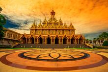 The Golden Castle (Prasat Thong Kham) - Uthai Thani: 6 June 2020: Atmosphere Within A Religious Tourist Attraction In Wat Tha Sung (Chantaram) In Nam Suem Area, Mueang Uthai Thani, Thailand.