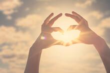 Hand Heart Shape Silhouette Ma...
