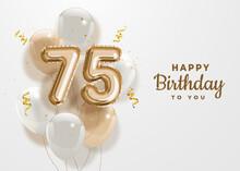 Happy 75th Birthday Gold Foil ...