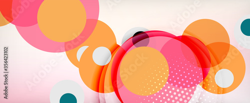 Obraz Trendy simple circle abstract background, dynamic motion concept. Vector Illustration For Wallpaper, Banner, Background, Card, Book Illustration, landing page - fototapety do salonu