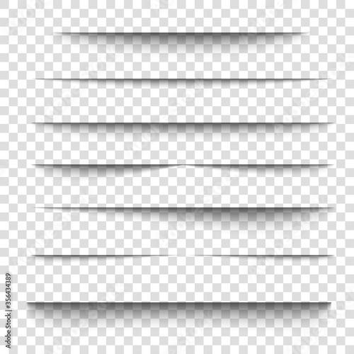 Obraz Paper sheet shadow effect. 3D line edge shape. - fototapety do salonu