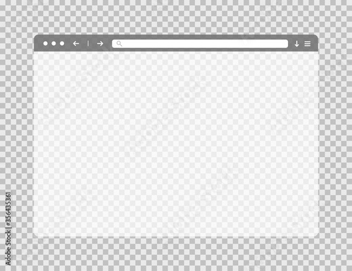 Fotografiet Transparent web browser window