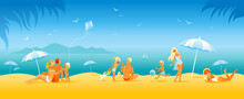 Family Beach Vacation Banner. ...