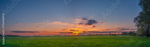 Zachód słońca panorama Canvas