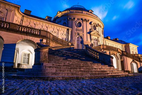 Foto Schloss Solitude in Stuttgart - Baden Württemberg bei Nacht - Langzeitaufnahme