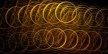 Golden Circles, Abstract Backg...