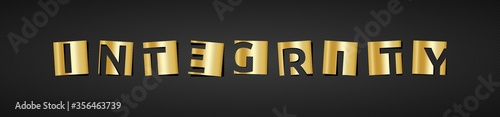 Photo Banner zum Thema: Integrity in gold