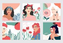 Set Of Illusttation. 8 March, ...