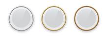 Round Podium Frames. Golden, S...