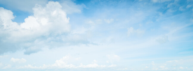 Blue sky clouds nature background ,Realistic Blue Sky Clouds wide panorama background