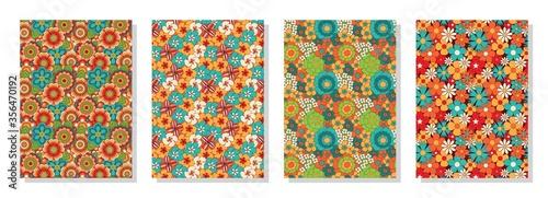 Tela Vintage floral patterns set