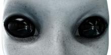 Alien Head. Close Up. UFO Conc...
