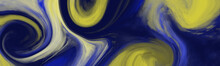 Abstract Soft Blue Yellow Wate...