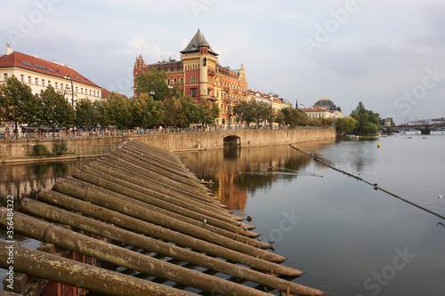 Fototapeta Moldava the river of Praga