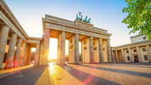 The Famous Brandenburg Gate While Sunset, Berlin