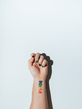 Gay Guy's Hand With A Tattoo T...