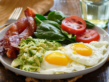 Keto Breakfast Plate With Eggs...